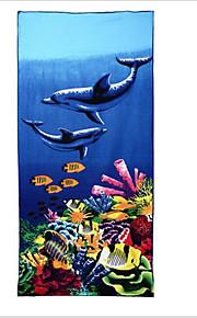 Drap de plage-Jacquard- en100 % Polyester-75*150cm