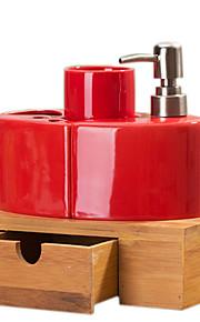 бамбук скамейке ванной четыре куска костюм