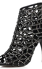 Women's Shoes Suede Stiletto Heel Heels / Peep Toe / Bootie / Open Toe Sandals Party & Evening / Dress /