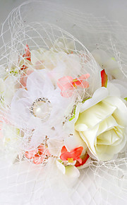 Women's Fabric / Net Headpiece-Wedding / Special Occasion Fascinators 1 Piece