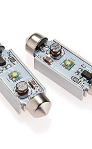 2 stuks cree-XPE Q5 LED slinger lichte lamp witte DC 12V auto-interieur 39mm