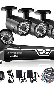 Zosi @ 4ch 1080p ahd dvr 4xoutdoor 2.0MP waterdichte-ir cut bullet camera security kit CCTV systemen