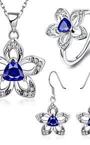 Conjunto de jóias Zircônia Cubica Zircônia Cubica Mulheres