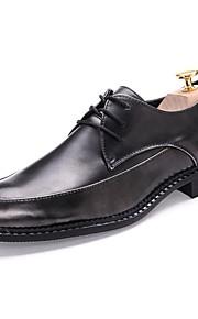 Chaussures Hommes Mariage / Bureau & Travail / Soirée & Evénement / Habillé / Décontracté Noir / Marron Synthétique Richelieu