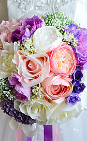 Wedding Flowers Round Roses / Lilies / Peonies Bouquets