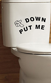 DIY Bathroom Put Me Down English Words Toilet Stickers Fashion WC Wall Stickers