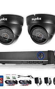 sistema de vigilância DVR sannce® 4ch 720p com 4HD câmeras * 720tvl de segurança ao ar livre 1280 built-in HDD de 1TB