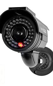 kingneo301s telecamera di sorveglianza esterna simulato l'energia solare Videocamera di sicurezza fittizia con flash LED 1pc nero