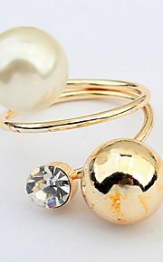 Alliances Femme / Amoureux / Unisexe Imitation de perle / Stras Alliage Alliage Ajustable / 6 Or