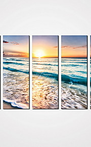 5 Panels Modern Sunrise Seacape Painting Sea Wave Picture Print on Canvas  for Wall Decoration Unframed
