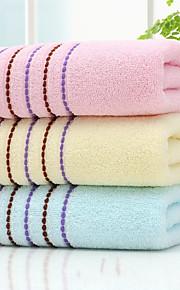 "1 Piece Full Cotton Thickening Hand Towel 29""by 13"" Stripe Pattern Super Soft"