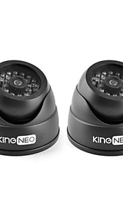 kingneo kd102 ir dummy camera gesimuleerd surveillance security dome camera 2 stuks zwart