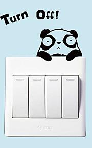 애니멀 벽 스티커 플레인 월스티커 데코레이티브 월 스티커 / 라이트 Switch 스티커,PVC 자료 이동가능 홈 장식 벽 데칼