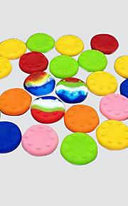 20 stk cmpick ps2 / ps3 / PS4 xboxone / xbox360 rocker silikone cap knap cap håndtag joystick hat (tilfældig farve)