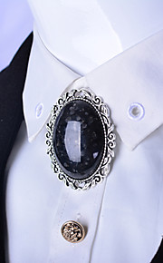 Oval Agate Stone Bolo Tie Artificial Crystal Men Bola Tie Sapphire Opal Necktie