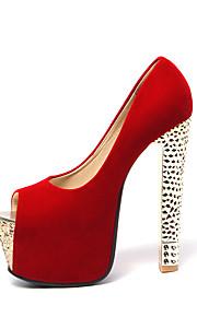Women's Shoes Heel Heels / Peep Toe / Platform Heels Wedding / Party & Evening / Dress Black / Red