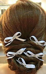 Femme Satin Casque-Mariage Epingle à Cheveux 1 Pièce Blanc Rond 19
