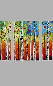 Håndmalte Landskap Parfymert,Tre Paneler Lerret Hang malte oljemaleri
