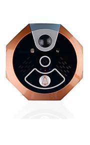 720p hjem sikkerhedsdør kameraets skærm intercom system med indendørs modtager til smartphones og tablets