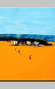 Maalattu Abstraktit maisemakuvat Moderni,1 paneeli Kanvas Hang-Painted öljymaalaus