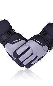 guanti da sci in inverno con i guanti impermeabili ispessite cotone caldo villi per veicoli elettrici e guanti da moto