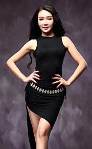 Belly Dance Women Outfits(Tops+Skirts+Shorts) No Waist-Chain Modal Pleated Black/Green/Burgundy/Khaki