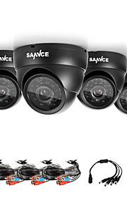 sannce® ahd cupola 720p ir esterna del CCTV taglio kit per macchine fotografiche telecamere del sistema resistente alle intemperie di