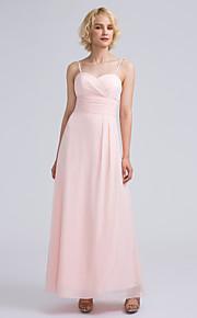 Lanting Bride Ankle-length Chiffon Bridesmaid Dress Sheath / Column Sweetheart with Criss Cross / Ruching
