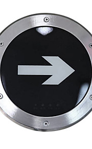 noodverlichting roestvrij staal Nooduitgang ondergrondse lamp (220V, diameter 245)
