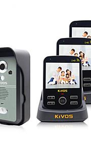 KIVOS trådløs video intercom dørklokke husstand én til tre overvågning videokamera lås