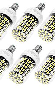 10W E14 / E26/E27 Ampoules Maïs LED T 108 SMD 5733 950 lm Blanc Chaud / Blanc Froid Décorative AC 100-240 V 6 pièces