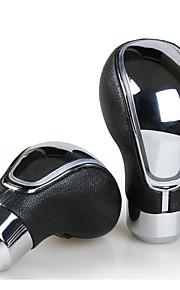 prodotti automobilistici accessori interni tocco automatica luci led colorate del cambio in pelle pvc marcia bastone pomelli cambio