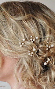 Set of 5 Women's Exqusite Hair Stick Pin for Wedding Party Hair Jewelry with Pearl Crytsal