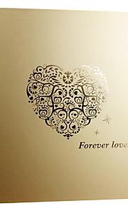 6 tommer 200 stk gyldne kærlighed-hjerte fotoalbum