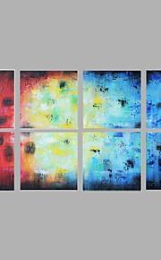 Maalattu Abstrakti Moderni,yli 5 paneeli Kanvas Hang-Painted öljymaalaus