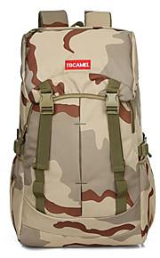 55 L mochila Acampada y Senderismo Al Aire Libre Multifuncional Marrón / Camuflaje Oxford Other