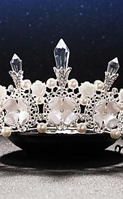 Women's Rhinestone / Crystal / Brass / Imitation Pearl / Resin Headpiece-Wedding / Special Occasion Tiaras 1 Piece
