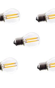 4W E26/E27 Ampoules à Filament LED G45 4 COB 360lm lm Blanc Chaud / Blanc Froid Gradable / Décorative AC 100-240 / AC 110-130 V 5 pièces