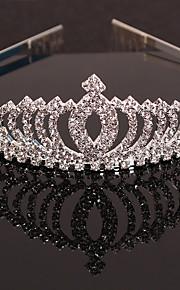 Fashion Simple Rhinestone Crown Style Head Dress Headwear