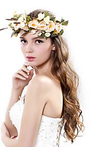 Women's Polyester / Fabric Headpiece-Wedding / Special Occasion / Outdoor Handmade Flowers Birdal Wreaths 1 Piece