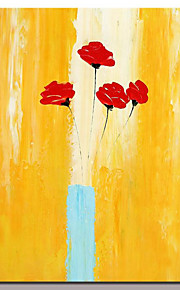 Hand Painted Canvas Oil Painting Modern Abstract Flower Picture Wall Art With Stretched Frame Ready To Hang 80x120cm