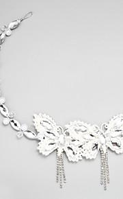 Femme / Jeune bouquetière Strass / Alliage / Imitation de perle Casque-Mariage / Occasion spéciale Serre-tête 1 Pièce Blanc Rond