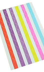 10stk albums vinkel mærkat tilfældig farve