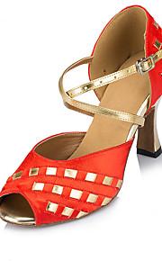 Для женщин-Бархатистая отделка-Не персонализируемая(Красный) -Сальса