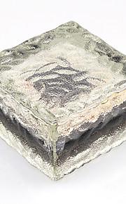 태양 광 발전 주도 지상 크리스탈 유리 얼음 벽돌 모양의 야외 마당 정원 데크 도로 경로 등