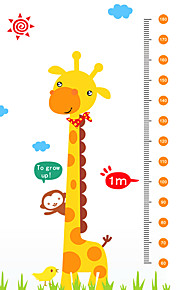 60-180Cm Cartoon Giraffe Monkey Height Stickers Kindergarten Kids Children's Bedroom Wall Stickers PVC Wall Decals