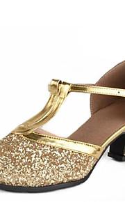 Sapatos de Dança(Prateado / Dourado) -Feminino-Não Personalizável-Latina / Moderna