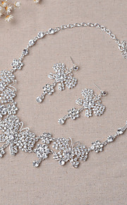 Bijoux Colliers décoratifs / Boucles d'oreille Collier / Boucles d'oreilles / Nuptiales Parures A la Mode Mariage / Soirée 1set Femme