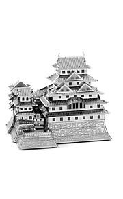 Rompecabezas Puzzles 3D Bloques de construcción Juguetes de bricolaje Castillo 1 Metal Plata juguete del juego