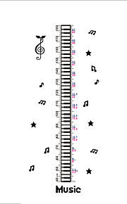 30*90CM Musical Note Growth Chart Wall Stickers Kids Classroom Decor